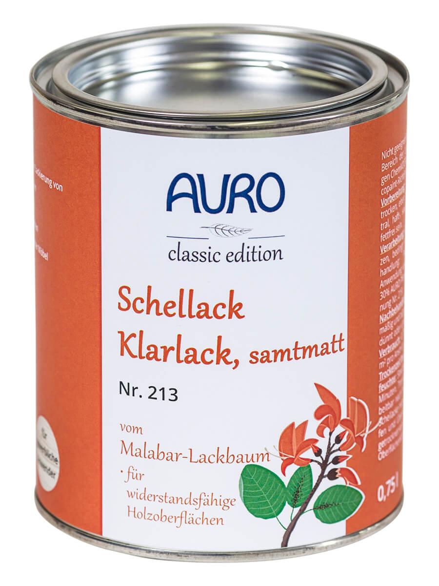 AURO Schellack-Klarlack ° Glänzend & Samtmatt