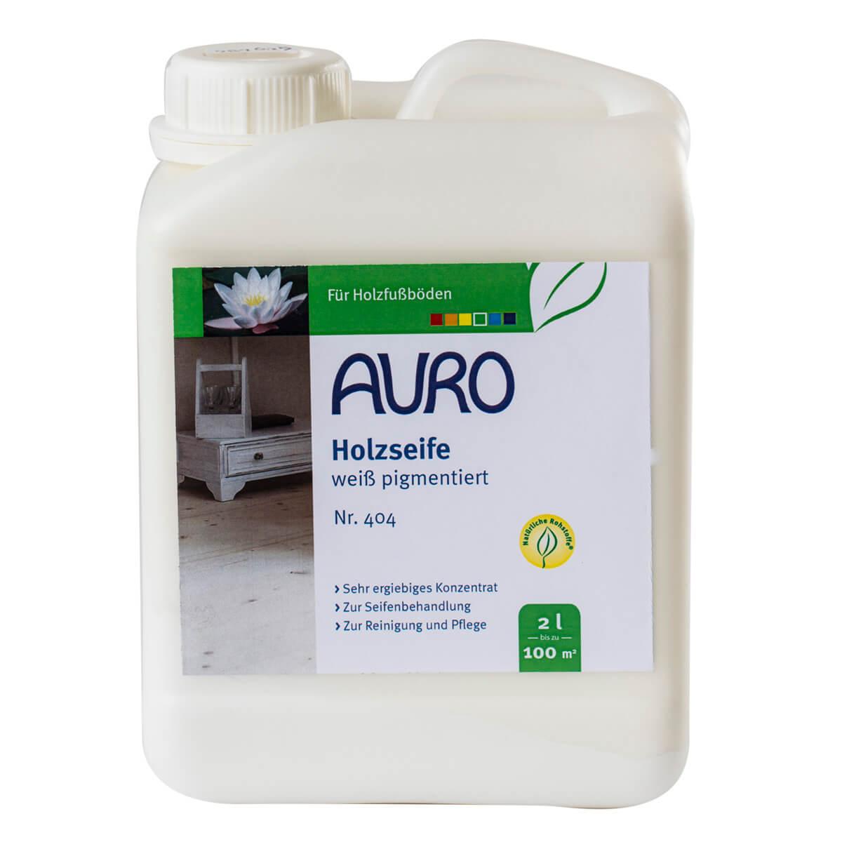 AURO Holzseife, Weiß pigmentiert