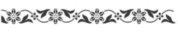 Storch Schablone (einschlägig) 25 12 06 Floral