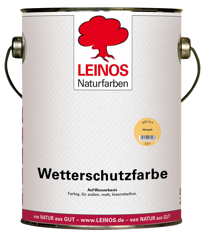 Leinos Wetterschutzfarbe auf Wasserbasis
