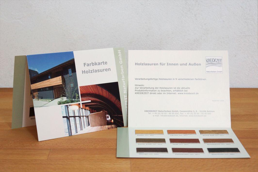 Kreidezeit Farbkarte Farbige Holzlasuren