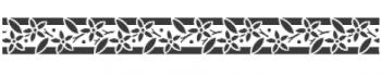 Storch Schablone (einschlägig) 25 12 17 Floral