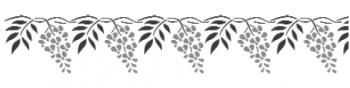 Storch Schablone (zweischlägig) 25 22 17 Floral