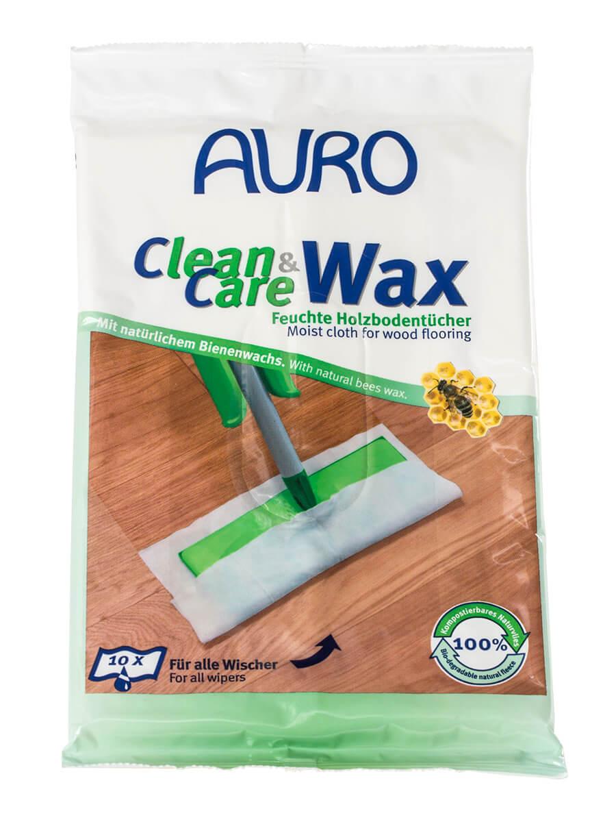 AURO Clean & Care Wax - Feuchte Holzbodentücher