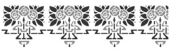 Storch Schablone (zweischlägig) 25 26 02 Jugendstil